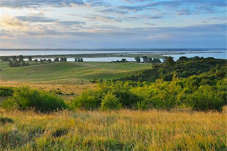 scenic view - View from Dornbusch in the Morning, Summer, Baltic Island of Hiddensee, Baltic Sea, Western Pomerania, Germany Stock Photo - Premium Royalty-Free, Code: 600-07599917