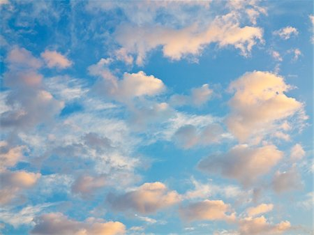 Clouds and blue sky at sunset, Germany Stock Photo - Premium Royalty-Free, Code: 600-07608347