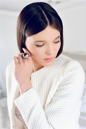 ring hand woman - Portrait of Young Woman Stock Photo - Premium Royalty-Free, Code: 600-07672163
