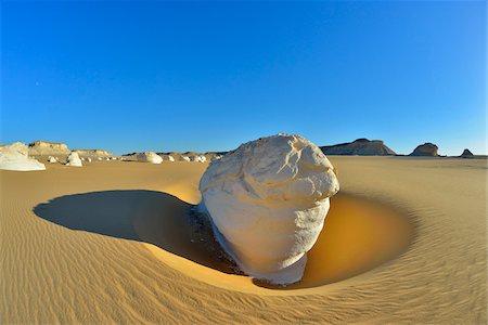 Rock Formation in White Desert, Libyan Desert, Sahara Desert, New Valley Governorate, Egypt Stock Photo - Premium Royalty-Free, Code: 600-07689530