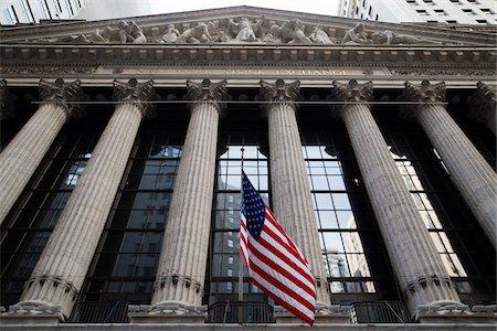 stock exchange building - New York Stock Exchange, New York City, New York, USA Stock Photo - Premium Royalty-Free, Code: 600-07760318