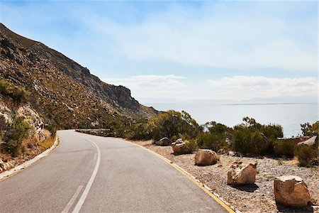 Mountain Road at Gordon's Bay, South Africa Stock Photo - Premium Royalty-Free, Code: 600-07784230