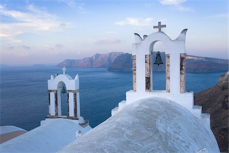 Bell Towers, Oia, Santorini, Greece Stock Photo - Premium Royalty-Free, Code: 600-07802720