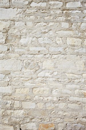Close-up of White Wall made of Natural Stones, Orleans, Loiret, France Stock Photo - Premium Royalty-Free, Code: 600-07810560
