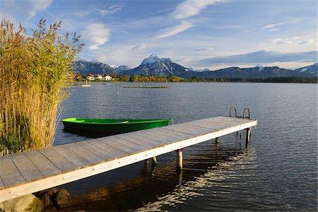 Wooden Jetty, Hopfen am See, Lake Hopfensee, Bavaria, Germany Stock Photo - Premium Royalty-Free, Code: 600-07844446