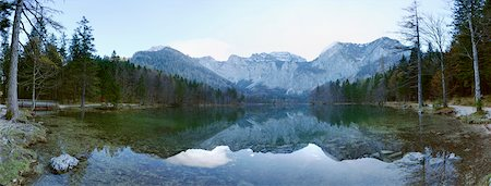 Landscape with Lake and Mountains in Autumn, Langbathsee, Austria Stock Photo - Premium Royalty-Free, Code: 600-07944960