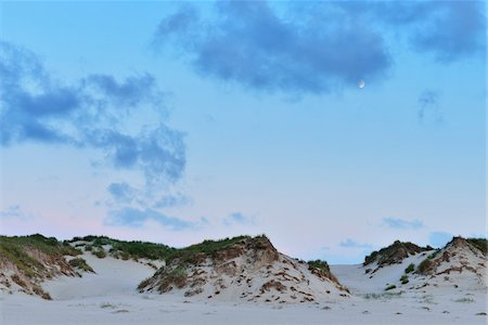 Dunes at Dusk in Summer, Norderney, East Frisia Island, North Sea, Lower Saxony, Germany Stock Photo - Premium Royalty-Free, Code: 600-07945229