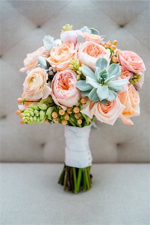 Close-up of Bridal Bouquet Stock Photo - Premium Royalty-Free, Code: 600-07991581