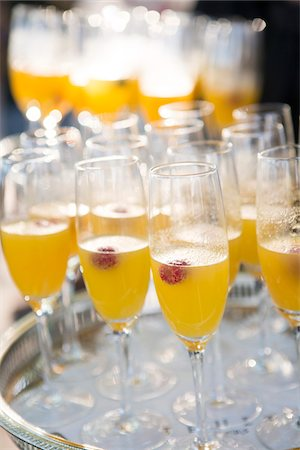 event - Close-up of Tray of Mimosas at Wedding Reception Stock Photo - Premium Royalty-Free, Code: 600-07991681