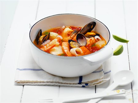 Seafood Soup, Studio Shot Stock Photo - Premium Royalty-Free, Code: 600-08060043