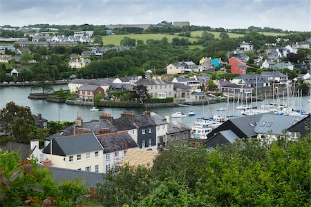 quaint - Scenic view of fishing town of Kinsale, Republic of Ireland Stock Photo - Premium Royalty-Free, Code: 600-08102767