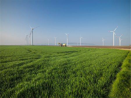 Group of wind turbines, Titz, Germany Stock Photo - Premium Royalty-Free, Code: 600-08171719