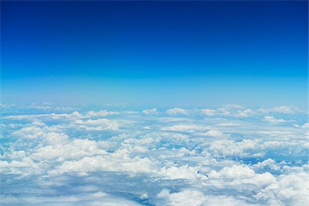 sky - View of Clouds from Airplane, Queensland, Australia Stock Photo - Premium Royalty-Free, Code: 600-08312113