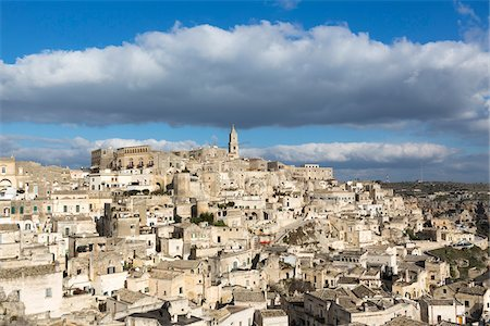 Overview of Sassi di Matera, one of the three oldest cities in the world, Basilicata, Italy Fotografie stock - Premium Royalty-Free, Codice: 600-08386024