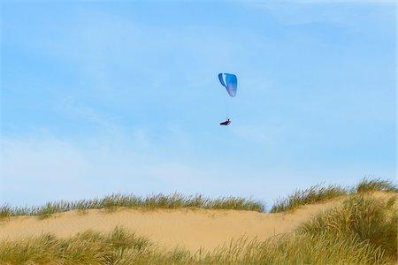 Sand Dune with Paraglider, Rubjerg Knude, Lokken, North Jutland, Denmark Stock Photo - Premium Royalty-Free, Code: 600-08512539