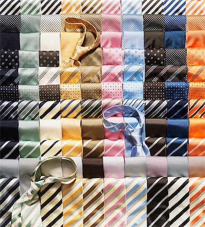 Rows of multi coloured ties Stock Photo - Premium Royalty-Free, Code: 600-08542897
