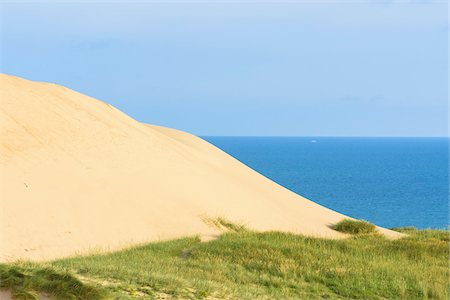 Sand Dune with North Sea, Rubjerg Knude, Lokken, North Jutland, Denmark Stock Photo - Premium Royalty-Free, Code: 600-08578847