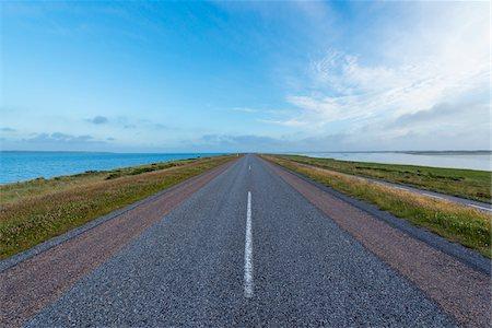 Country Road on Headland, Thy National park, Agger, North Jutland, Denmark Stock Photo - Premium Royalty-Free, Code: 600-08578841