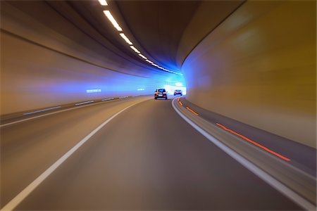 Driving through Tunnel with Traffic, Austria Stock Photo - Premium Royalty-Free, Code: 600-08639186