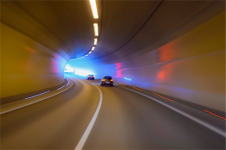 Driving through Tunnel with Traffic, Austria Stock Photo - Premium Royalty-Free, Code: 600-08639187
