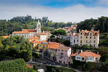 portuguese (places and things) - Overview of Sintra, Portugal Stock Photo - Premium Royalty-Free, Code: 600-08770127