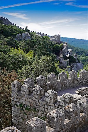 portuguese (places and things) - Castle of the Moors in Sintra Municipality, Portugal Stock Photo - Premium Royalty-Free, Code: 600-08770129