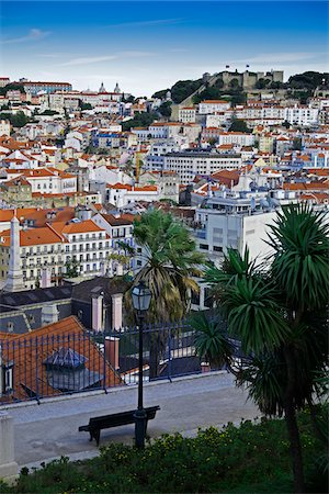 portuguese (places and things) - Cityscape of Lisbon, Portugal Stock Photo - Premium Royalty-Free, Code: 600-08770136