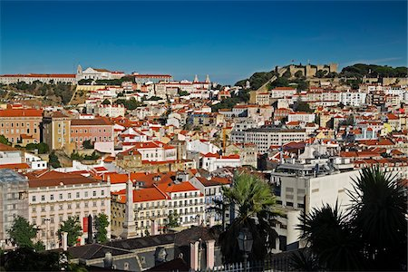portuguese (places and things) - Cityscape of Lisbon, Portugal Stock Photo - Premium Royalty-Free, Code: 600-08770137