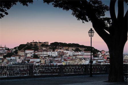portuguese (places and things) - Cityscape of Lisbon at Sunset, Portugal Stock Photo - Premium Royalty-Free, Code: 600-08770138