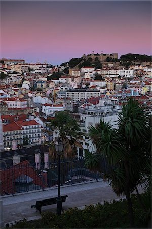 portuguese (places and things) - Cityscape of Lisbon, at Sunset, Portugal Stock Photo - Premium Royalty-Free, Code: 600-08770139