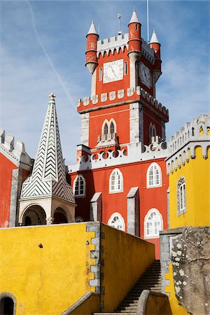 portuguese (places and things) - Tower at Pena Palace in Sintra Municipality, Portugal Stock Photo - Premium Royalty-Free, Code: 600-08770133