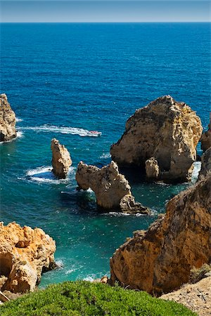 portuguese (places and things) - Rock Formations at Lagos, Algarve Coast, Portugal Stock Photo - Premium Royalty-Free, Code: 600-08770145