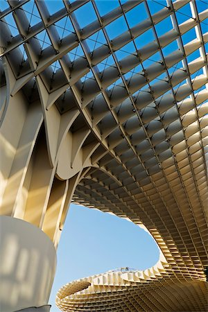 Close-up of Metropol Parasol at Plaza de la Encarnacion, Seville, Andalucia, Spain Stock Photo - Premium Royalty-Free, Code: 600-08770157