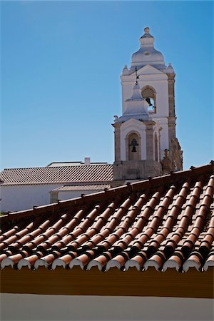 portuguese (places and things) - Bell Towers of Igreja de Santo Antonio, Lagos, Portugal Stock Photo - Premium Royalty-Free, Code: 600-08770152