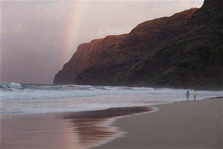 Polihale Beach, Kuai, Hawaii, USA Stock Photo - Premium Royalty-Free, Code: 600-00012415
