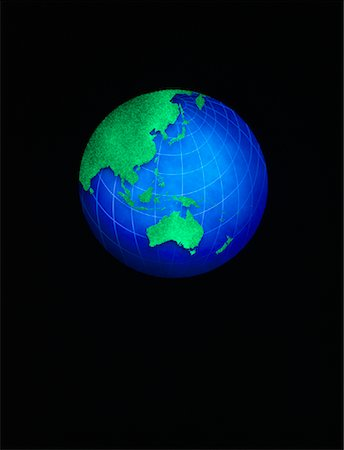 Globe Pacific Rim and Australia Stock Photo - Premium Royalty-Free, Code: 600-00013020