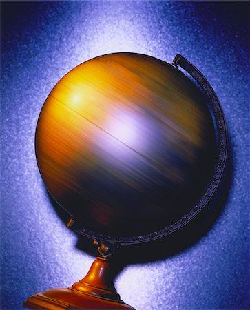 Spinning Globe Stock Photo - Premium Royalty-Free, Code: 600-00025785
