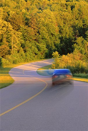 road landscape - Car on Road, Gatineau Parkway, Gatineau Park, Quebec. Canada Stock Photo - Premium Royalty-Free, Code: 600-00048822