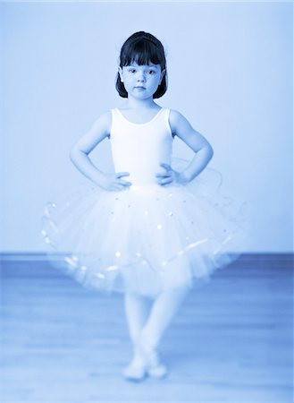 Portrait of Young Girl Dressed in Ballerina Costume Stock Photo - Premium Royalty-Free, Code: 600-00051515