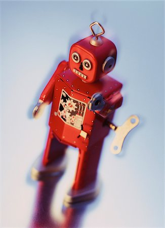 still life - Wind-Up Toy Robot Stock Photo - Premium Royalty-Free, Code: 600-00065324
