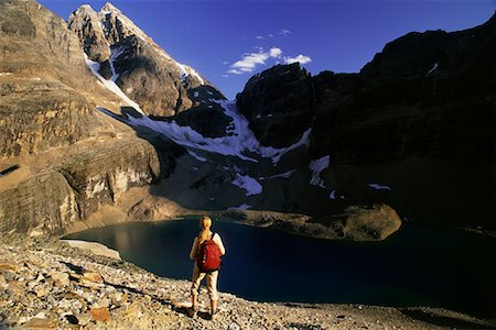 simsearch:600-00846421,k - Back View of Girl Hiking, Yoho National Park, BC, Canada Stock Photo - Premium Royalty-Free, Code: 600-00067195