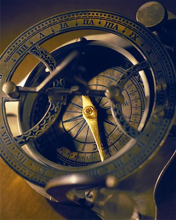 Close-Up of Antique Compass Stock Photo - Premium Royalty-Free, Code: 600-00077446