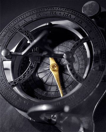 Close-Up of Antique Compass Stock Photo - Premium Royalty-Free, Code: 600-00077447