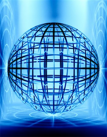 Wire Globe Stock Photo - Premium Royalty-Free, Code: 600-00072806