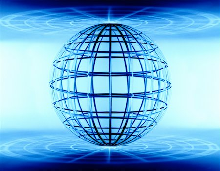 Wire Globe Stock Photo - Premium Royalty-Free, Code: 600-00072807