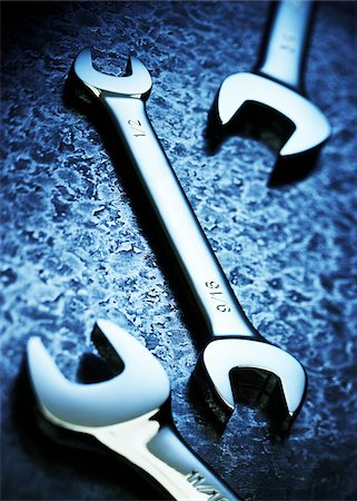 still life - Close-Up of Three Crescent Wrenches Stock Photo - Premium Royalty-Free, Code: 600-00080739