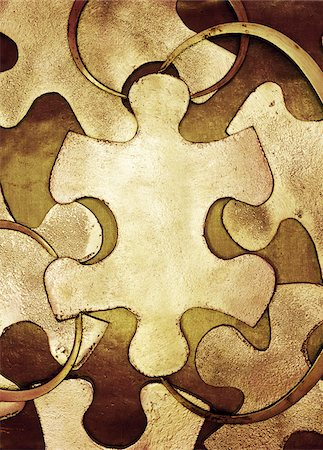 Puzzle Pieces and Callipers Stock Photo - Premium Royalty-Free, Code: 600-00094727