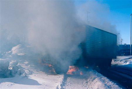 Burning Truck, Ontario, Canada Stock Photo - Premium Royalty-Free, Code: 600-00174103