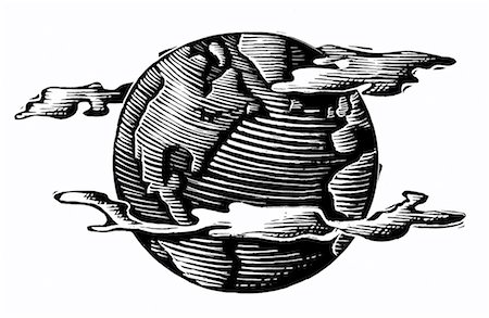 Illustration of Globe Stock Photo - Premium Royalty-Free, Code: 600-00177071