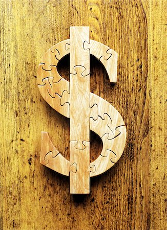 still life - Wooden Dollar Jigsaw Puzzle Stock Photo - Premium Royalty-Free, Code: 600-00178840